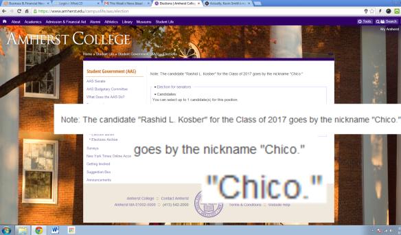 Muck-Rake endorses Chico